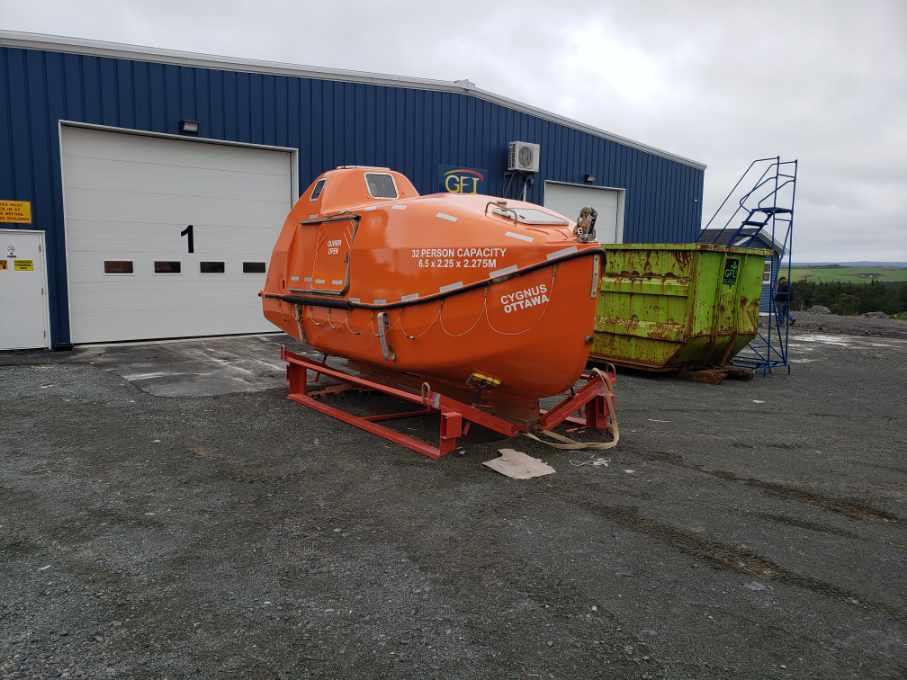 FRP repairs to Lifeboat